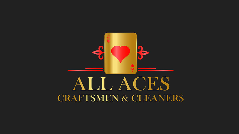All Aces Cleaning Business Logo