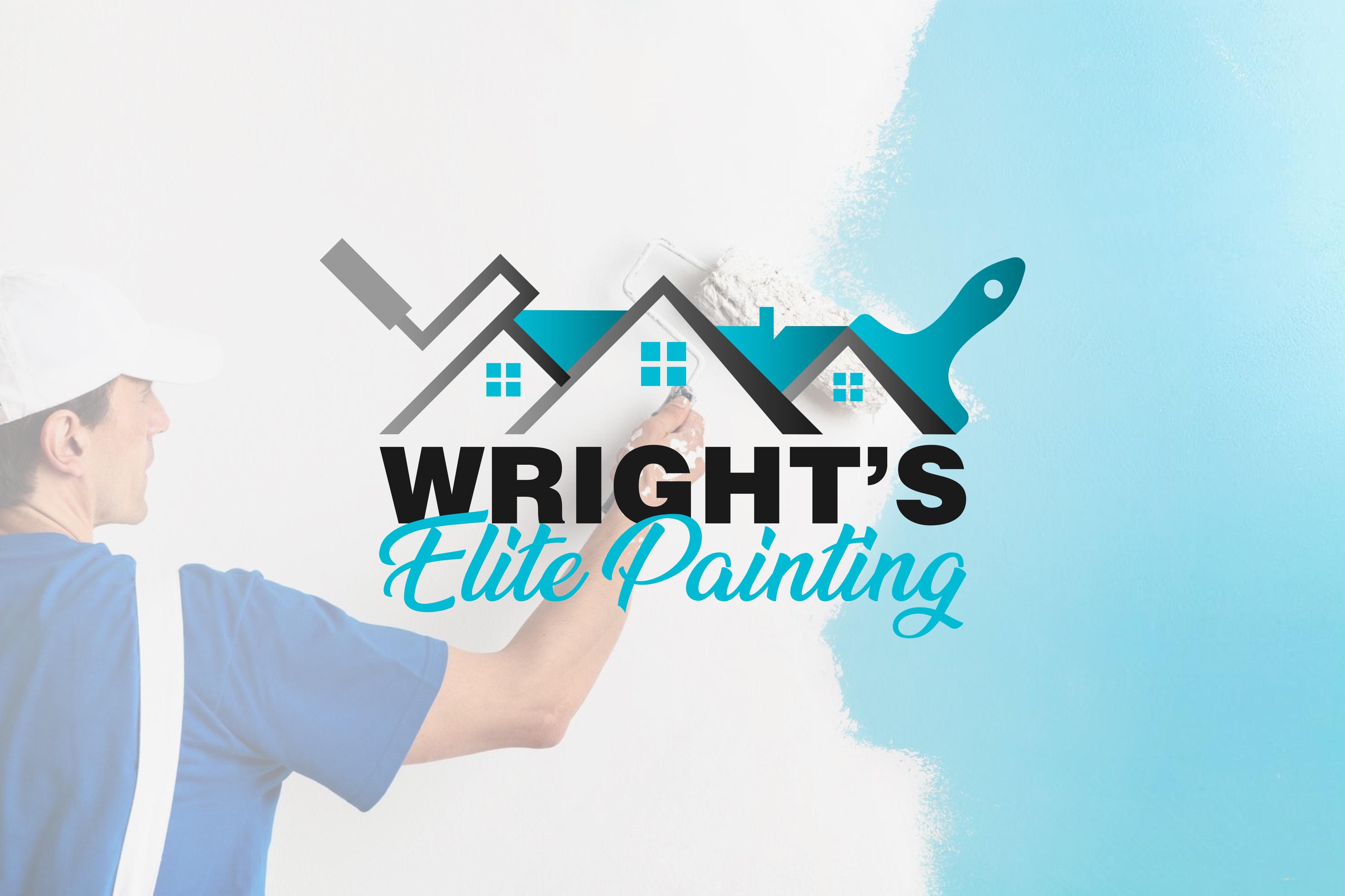 Wright's Elite Painting Business Logo